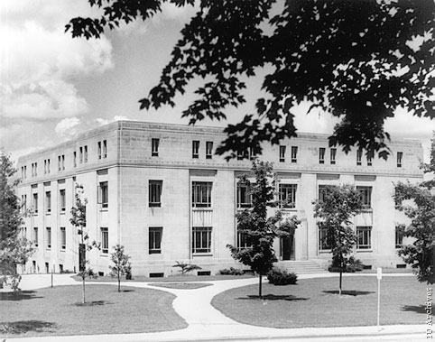 Exterior of the Music Building (now Merrill Hall).