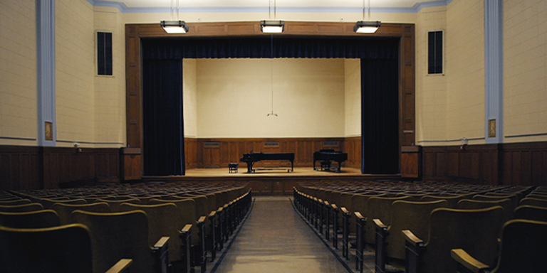 Interior of Recital Hall.