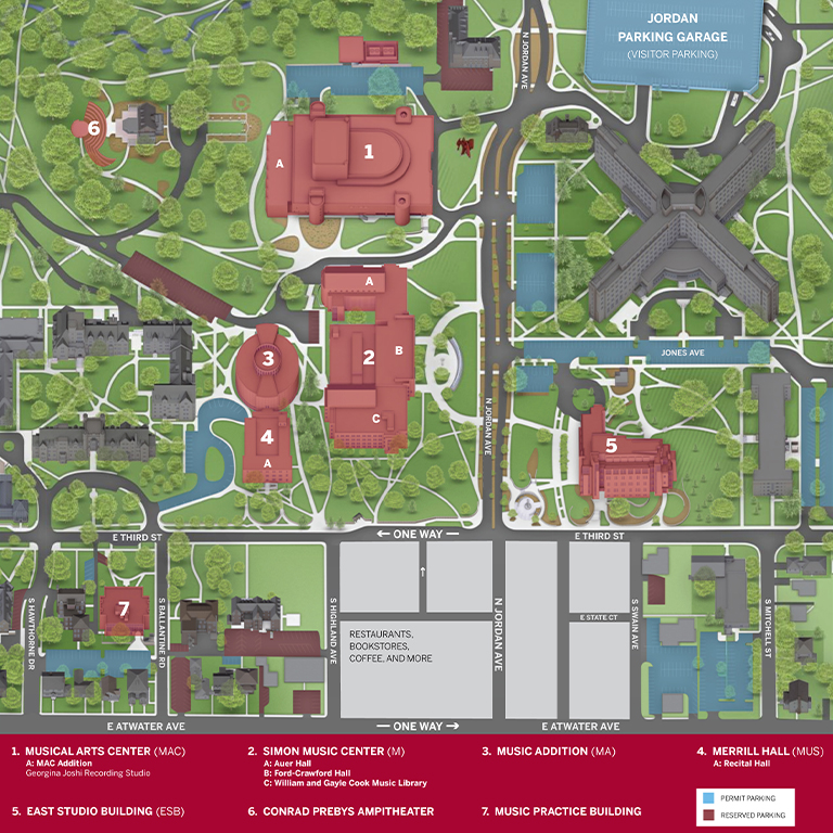 Iu Bloomington Campus Map Directions & Parking: News & Events: Jacobs School of Music